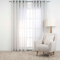 BARDWELL 180x250cm sheer eyelet curtain