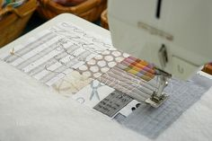 Quilt as you go.  This is a brilliant idea for making a scrap quilt!