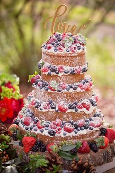 Naked Wedding Cake - Mary Otanez Photography