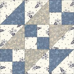 June 9 Steps to the Altar. According to Jinny Beyer, this block was first recorded in the Illinois State Register in Quilting Templates, Quilt Block Patterns, Pattern Blocks, Quilting Projects, Quilting Designs, Quilt Blocks, Dear Jane Quilt, Cute Quilts, Grey Quilt