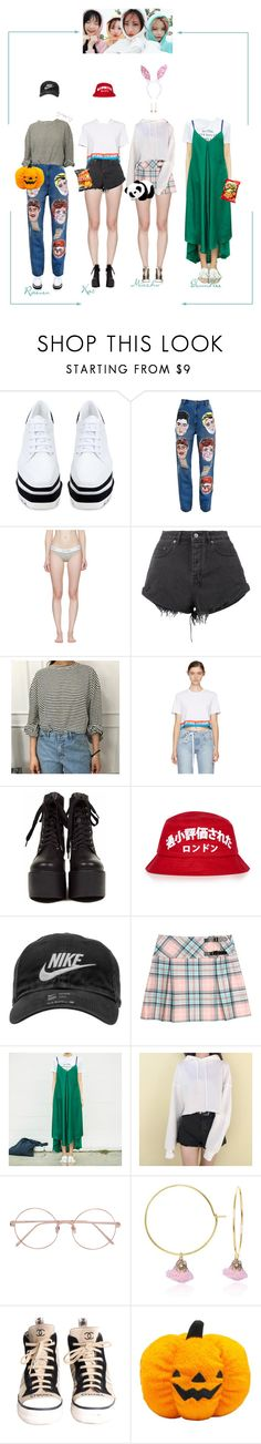 """""""S'nD Jeju Fansign"""" by purrfectas ❤ liked on Polyvore featuring STELLA McCARTNEY, Ashish, Calvin Klein Underwear, Ksubi, Opening Ceremony, NIKE, Linda Farrow, C.J.M, Chanel and sndlmpera"""