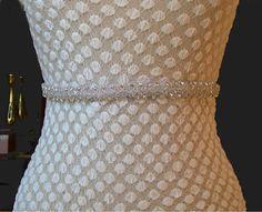 Thin Bridal Sash Crystal Rhinestones Beaded Belts Wedding Sash Belt Ready to Ship Wedding Sash Belt, Bridal Sash, Sash Belts, Beaded Belts, Crystal Rhinestone, Crystals, Trending Outfits, Bling Bling, Unique Jewelry