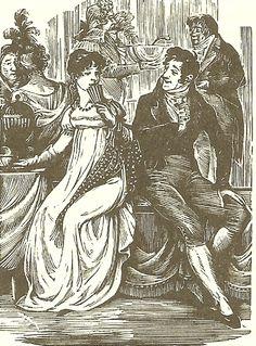 Joan Hassall illustration of a Jane Austen novel Book Cover Art, Book Art, Jane Austen Novels, Regency Era, Modern Artists, Pride And Prejudice, Period Dramas, Happy Day, Vintage Images