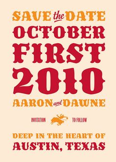 A letterpress-printed save-the-date card in Sergio Ramírez's Trochera: http://new.myfonts.com/fonts/sardiez/trochera/
