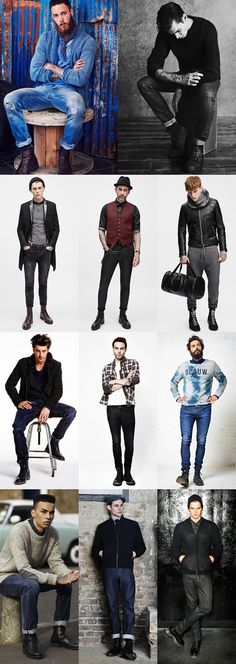 Men's 2014 Autumn/Winter Fashion Trend: Punk-Inspired Boots Style Lookbook Inspiration