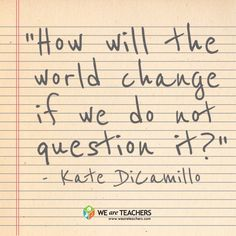 A great question to pose to our students!