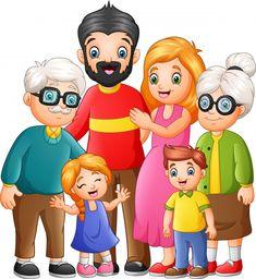 Foto Cartoon, Cartoon Images, Cartoon Boy, English Activities For Kids, Family Activities, Family Drawing, Drawing For Kids, Free Vector Images, Vector Free