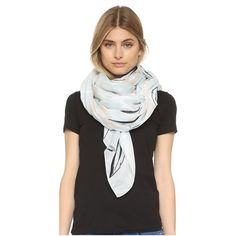 Rag & Bone Palm Print Scarf (8,335 PHP) ❤ liked on Polyvore featuring accessories, scarves, graphite, gauze scarves and lightweight scarves