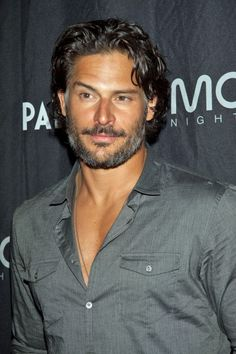 Joe Manganiello and he can do the eye brow thing....sooo sexy!