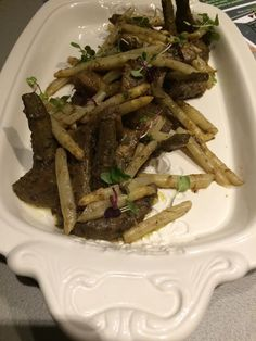 Fresh Roasted Artichokes & White Asparagus with Tarragon, White Wine & Garlic Confit  #freshartichokes #whiteasparagus #crushediceevents
