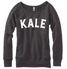 Kale - Kale Sweater - Kale Sweatshirt - Kale Top - Kale Shirt - Kale - Yoga - Yoga Top - Yoga Sweater - Sweater - Graphic Tee Women