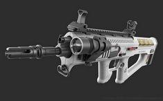 """ArtStation - Assault Rifle """"Badger"""", Christian Groß"""