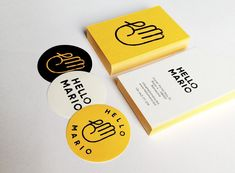 Hello Mario is a store located in Barcelona that curates creative small scale projects, essentially handmade. Its corporate identity is designed by Min.