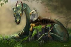 See comments for first 'Old friends'. Old friends II Magical Creatures, Fantasy Creatures, Fantasy Dragon, Fantasy Art, Dragon Images, High Elf, Fantasy Island, Faeries, Dark Art
