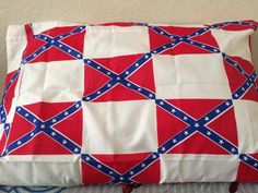 Rebel Nation Rebel Flag Pillowcases (White) For Sale $3.95