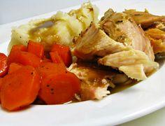 Herb-Roasted Chicken with Gravy