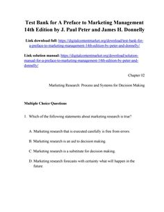 Below are 85 free test bank for essentials of managing human download test bank for a preface to marketing management 14th edition by peter and donnelly fandeluxe Images