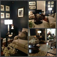 Did you know McAleer's has home furniture too? Check out this amazing living room by one of our top designers, Lesley Shaw. Chairs, sofa, entertainment console, occasional tables, rug, coffee table and lamps ALL from McAleer's! http://mcaleers.com/product-category/accessories/ And if you ask nicely, she will even help you pick your paint color!