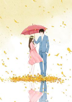 Uploaded by Umaima Ahmad. Find images and videos on We Heart It - the app to get lost in what you love. Couple Manga, Love Cartoon Couple, Cute Love Cartoons, Cute Love Couple, Anime Love Couple, Cute Anime Couples, Couple Illustration, Illustration Art, Cover Wattpad
