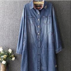 Buy 'Blue Rose – Plaid Panel Long Denim Shirt' with Free International Shipping at YesStyle.com. Browse and shop for thousands of Asian fashion items from China and more!