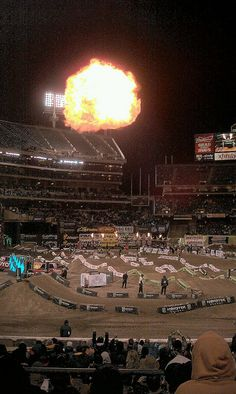 Fireball at #Oakland #Supercross