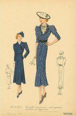 1930s fashion plate