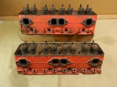 """the famous double hump marking on the ends of the heads, the #3782461 and #3782461X heads used 1.94/1.50 inch valves. These were commonly called """"Fuelie"""" heads because they were released with mechanical Rochester fuel injection on the stock engines."""