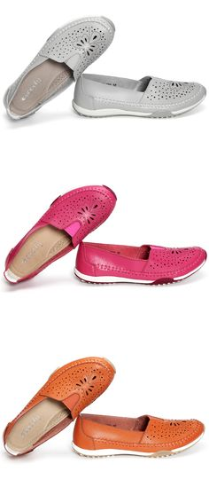 Socofy SOCOFY Big Size Butterfly Hollow Out Comfortable Leather Flat Casual Loafers is cheap and comfortable. There are other cheap women flats and loafers online. Women's Shoes, Sock Shoes, Shoe Boots, Just Fab Shoes, Cute Shoes, Me Too Shoes, Comfy Shoes, Comfortable Shoes, Casual Loafers
