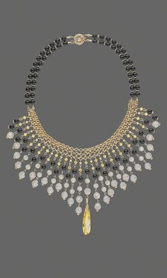 Collar Necklace with Swarovski® Crystal Beads and Pearls and Gold-Filled Chain - Fire Mountain Gems and Beads