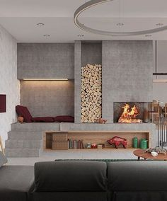 Regrading the subject, indoor fireplace ideas are pretty awesome as they will provide you with the coziness that you need. There are many fireplace. Interior Design Inspiration, Home Interior Design, Interior Architecture, Room Interior, Luxury Interior, Contemporary Architecture, Design Ideas, Home Fireplace, Modern Fireplace