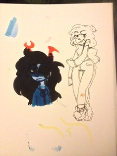 I drew two different Vriska's with these I am so happy