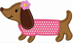 Dachshund Dog  Applique Machine Embroidery Design NO:1152. $2.99, via Etsy.