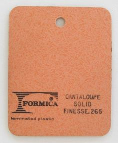 Vintage Formica® Laminate - Cantaloupe Solid Finesse