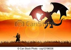 knight fighting dragon clipart - Google Search
