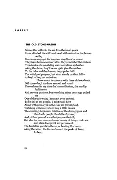 The Old Stone-Mason by Robinson Jeffers | Poetry Magazine