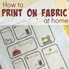 Printing on fabric at home is easier than you think. These simple tips will help transform your project. This technique is perfect personalizing and labels.