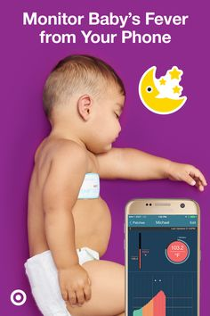 TempTraq Smart Thermometer monitors Baby's temperature from your smartphone & conveniently sends updates for 24 hours.
