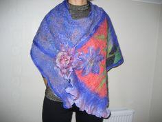 Nuno felted purple lavender shawl wrap scarf silk by feltinga, $39.90