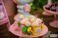 Adorable treats at a garden of fairies and butterflies birthday party! See more party ideas at CatchMyParty.com!