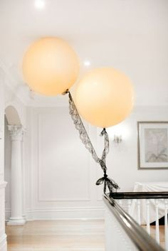 Ballons w/ lace or tule instead of string