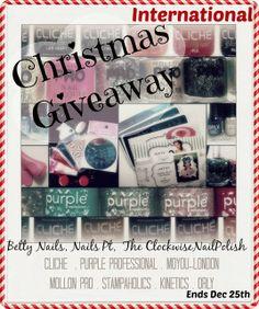 PARTICIPEM! http://nailspt.blogspot.pt/2013/12/christmas-internacional-giveaway.html