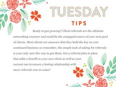 Ready for another round of (NET)WORKING Tuesday Tips? http://www.everythingbloom.com/tuesday-tips-14g-%C2%B7-you-better-network