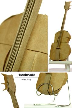 Re-pin this detailed Origami Guitar made from one sheet of paper. Ideal gift for a musician or guitarist. Handmade with lots of dedication, precision, and love.