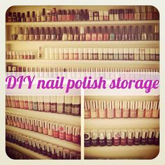 flutter and sparkle: DIY / Tutorial : How to make a nail polish storage unit Would be good to make one like this for wooden stamps