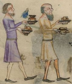 Detail from The Luttrell Psalter, British Library Add MS 42130 (medieval manuscript,1325-1340), f207v