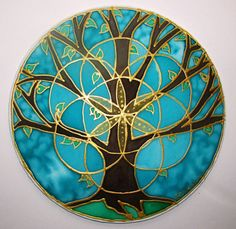 Tree of Life Mandala mandala art tree of by HeavenOnEarthSilks  #Scared Geometry with the seed of life.