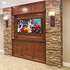 stone tv wall design - Google Search