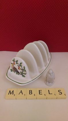 WADE ROYAL VICTORIA POTTERY ~PARTRIDGE IN A PEAR TREE~ toast rack