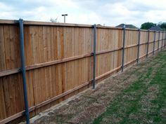 wood fence on aluminum fence post | Cheap Wood For Fencing by Ralf