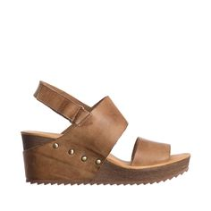 Antelope Womens 565 Leather Double Band Wedge Sandals
